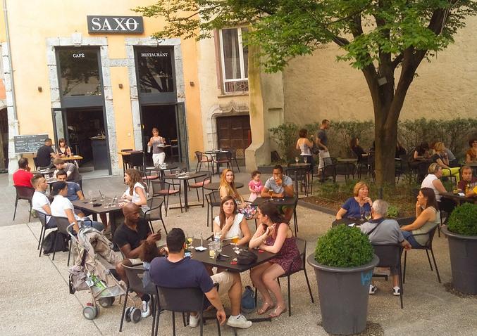 Grenoble d couverte le saxo - Restaurant jardin de ville grenoble ...
